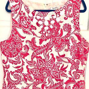 Dress, Red, Dress Barn, Size 16, White, Dress